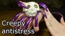 Creepy scary antistress slime toy reviev long nails ASMR