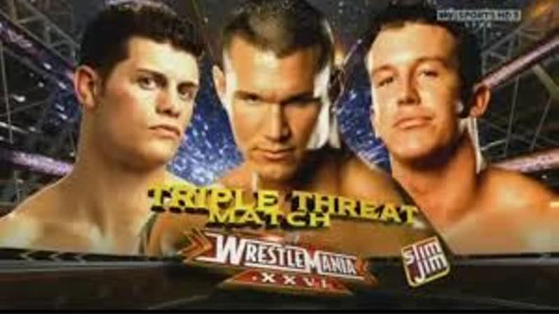 WWE Mania WrestleMania XXVI Randy Orton vs Ted DiBiase vs Cody Rhodes