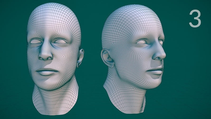 CGC Classic: Edge Modeling a Human Head - Pt.3 (Blender 2.4)