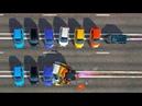 РЕАКТИВНЫЙ АВТОМОБИЛЬ против 6 ОБЫЧНЫХ | КРАШ-ТЕСТ №7 | BeamNG drive