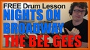 ★ Nights On Broadway The Bee Gees ★ FREE Video Drum Lesson How To Play BEAT Dennis Bryon