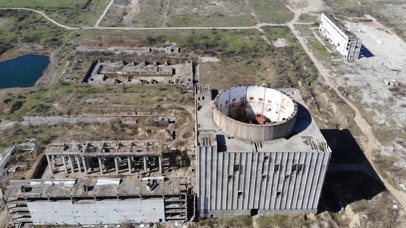 С высоты птичьего полета | Заброшенная Крымская Атомная Электростанция в Щелкино