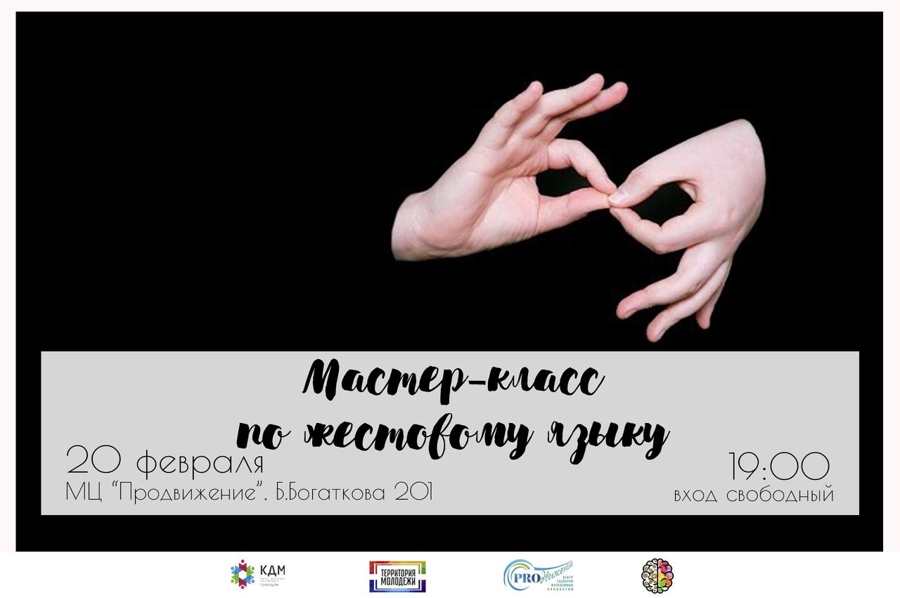 Афиша Новосибирск Мастер-класс по жестовому языку