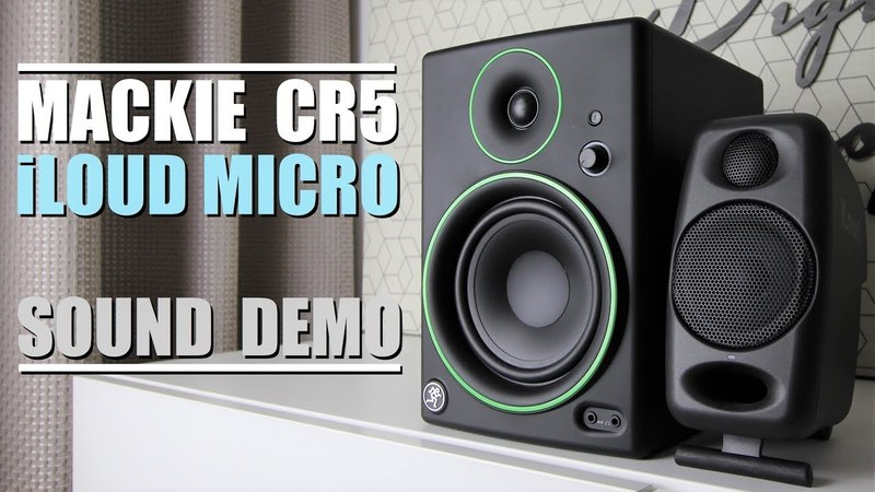 Mackie CR5 BT vs iLoud Micro Monitor || Sound Demo w/ Bass Test