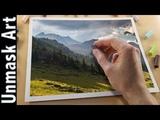 Mountain Landscape Painting with Unison Soft Pastels Live Tutorial Part 2