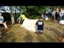 собирание палатки