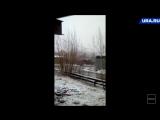 Летний снегопад в Салехарде