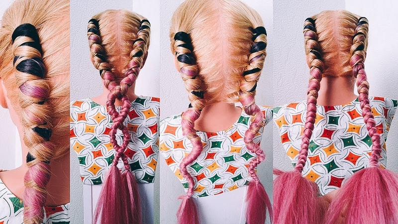🔝ТОП🔝 КОСА - КНУТ с КАНЕКАЛОНОМ. ЛЕТНИЕ ПРИЧЕСКИ. Whip Braids. Summer Hairstyles