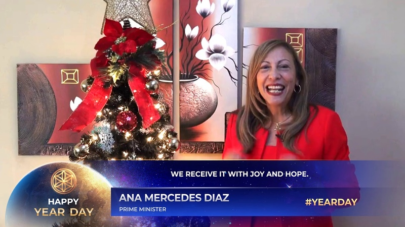 Happy Year Day from Ana Mercedes Diaz, Prime Minister of Asgardia