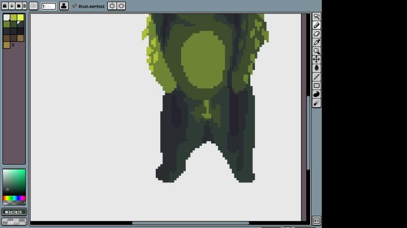 рисуем травяного медведя и возможно пиксельарт тайлы