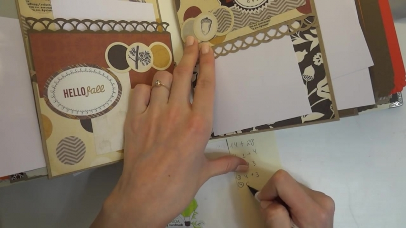 Обзор, осенний альбом, 6 - Скрапбукинг мастер-класс - Aida Handmade