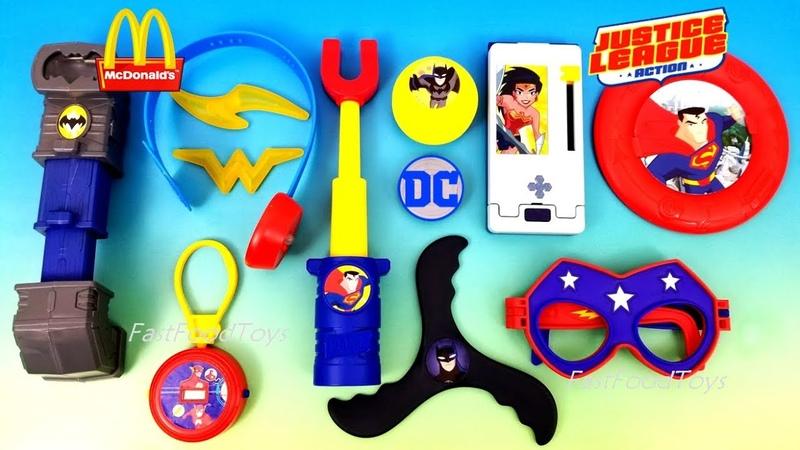 Лига Справедливости игрушки Макдоналдс Россия 2018, иностранный обзор