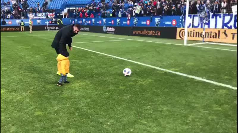 Мечта Алехандро Силвы из «Монреаля» сбылась: его сынишка забил первый гол