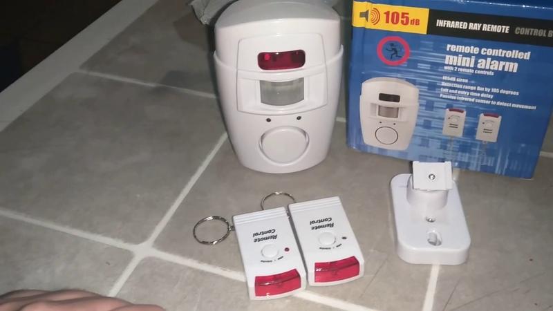 Uzaktan kumandalı mini alarm sistemi