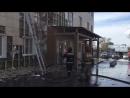 Возгорание фасада Декабристов 92