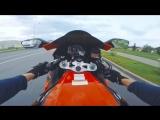 [Vlad1000RR] Танец на мотоцикле с девушкой в стрингах - Злая женщина вызвала ГАИ