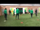 Celtic FC - The Bhoys train indoors at Lennoxtown!