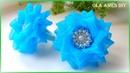 Канзаши/Цветы из органзы/Organza Ribbon Flower Tutorial/Flores de Organza/Ola ameS DIY
