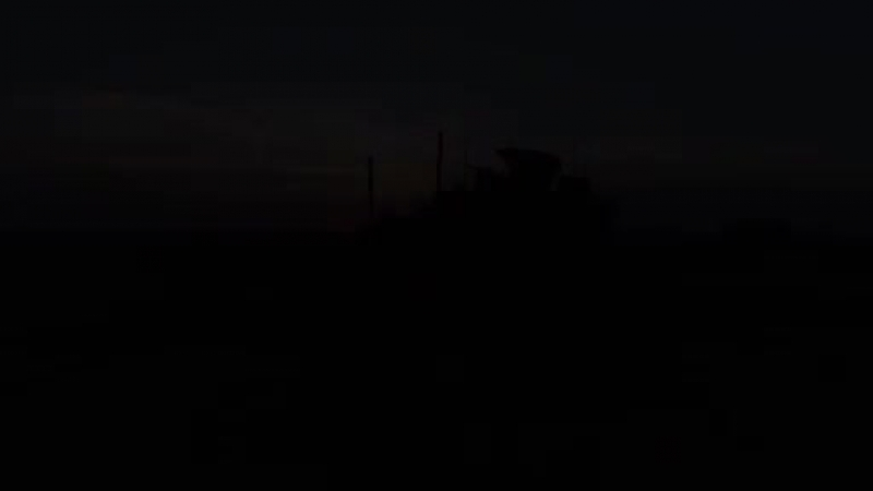 @CJTFOIR artillery fire striking targets to liberate Iraq and Syria against ISIS - Marine