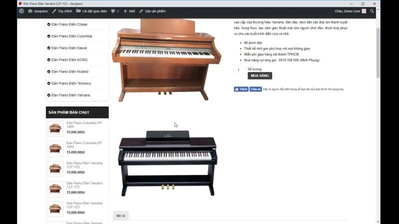 Giao diện wordpress: Bán đàn piano