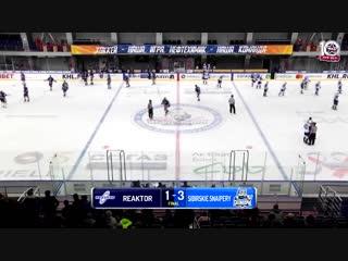 «Реактор» – «Сибирские Снайперы» (Чемпионат МХЛ 18/19) 21.11.18 - все голы матча
