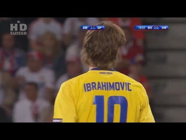 Россия 2-0 Швеция (HD обзор) UEFA Euro 2008 Russia vs Sweden