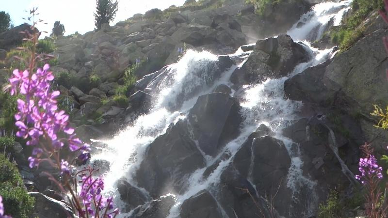 У водопадного ручья Алтай 2018