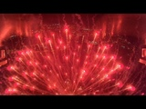 Красивый салют, вид изнутри. г.Стрежевой 01.09.18. \\ Drone inside the fireworks FPV