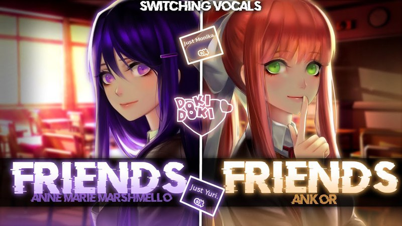 ◤Nightcore◢ ↬ FRIENDS [Switching Vocals | ANKOR COVER]