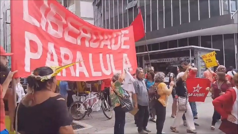 Minas Gerais Pela Liberdade de Lula - mineiros vão à Praça Sete no centro de BH PCO InfoDigit-PC