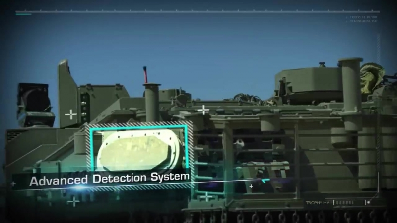 Trophy active protection system against anti tank missile rockets for combat vehicle Rafael Israel d