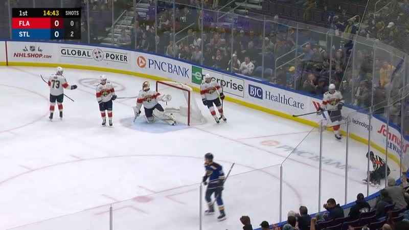 Bortuzzo shoots puck in off referee from impossible angle