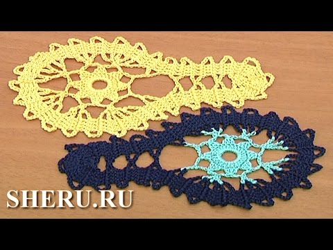 Bruges Crochet Lace Tutorial 9 часть 1 из 2 Брюггское кружево