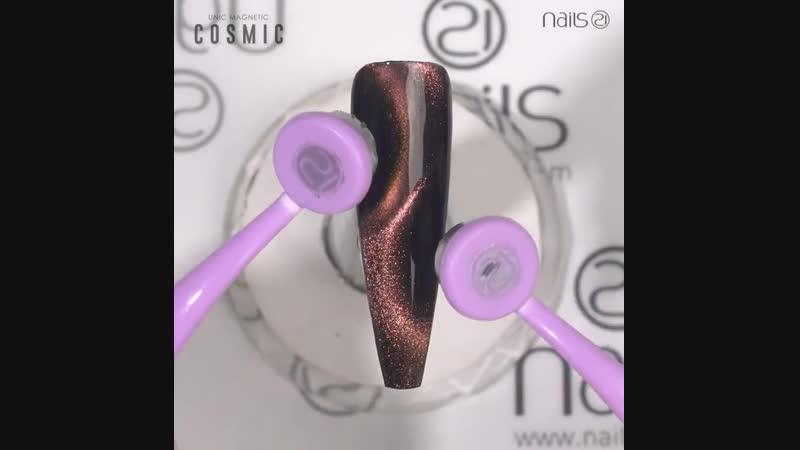 Использование круглых магнитов с гель-лаками кошачий глаз