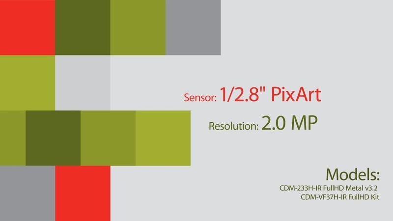 Dome AHD camera Partizan with sensor 1/2.8 PixArt (2.0 MP) (Day/Night)