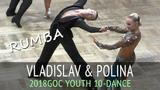 Vladislav Untu &amp Polina Baryshnikova Румба GOC2018 Молодежь 10 танцев