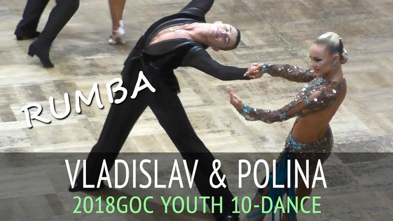 Vladislav Untu Polina Baryshnikova | Румба | GOC2018 Молодежь 10 танцев