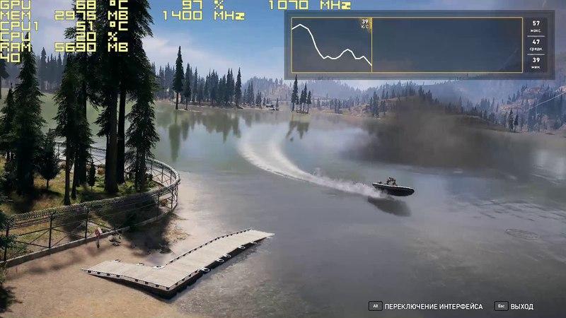 Far Cry 5 встроенный бенчмарк на AMD RADEON R9 270X 4GB