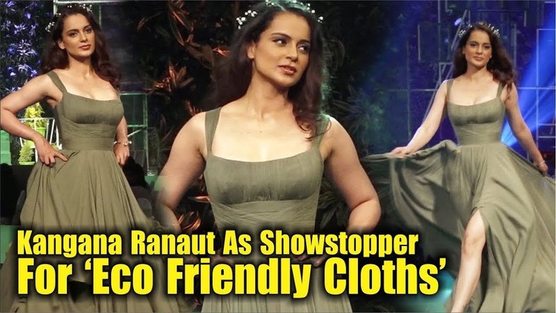 """Kangana Ranaut"" Rampwalk For The First Eco-Friendly Clothing   Manikarnika"