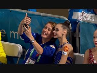 Амина Зарипова и Дарья Трубникова после выступления - 2// Юношеские Олимпийские Игры 2018, Буэнос-Айрес