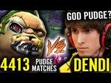 QoP Dendi vs 4000 Pudge Game Player - This Pudger Picker is Insane! Dota 2 Pro Gameplay