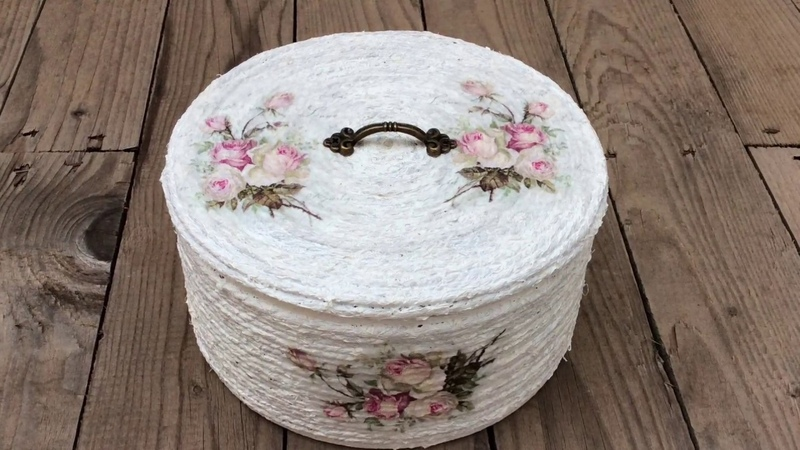 Lata decorada con cuerda y decoupagetuna can with rope and decoupage (ENG SUB)