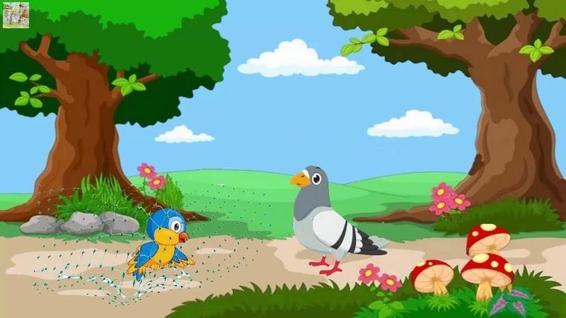 Чиж и Голубь басня Крылова видео для детей мультфильм