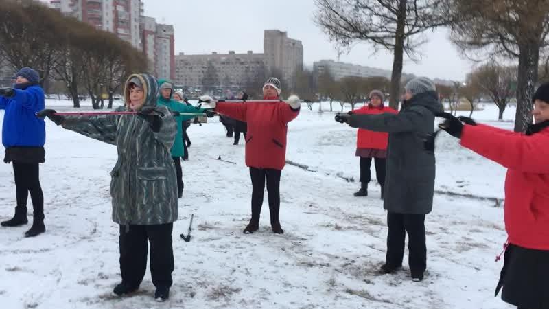 Мастер класс по скандинавской ходьбе МО Прометей