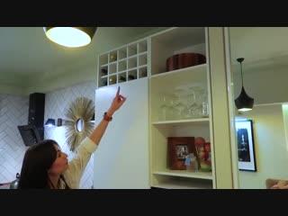 Лаконичная кухня без верхних шкафов
