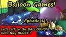 Balloon Games Learn Colours - Sit on Balloons until they POP! Balon Tiup Balon Patlaması Yarışı