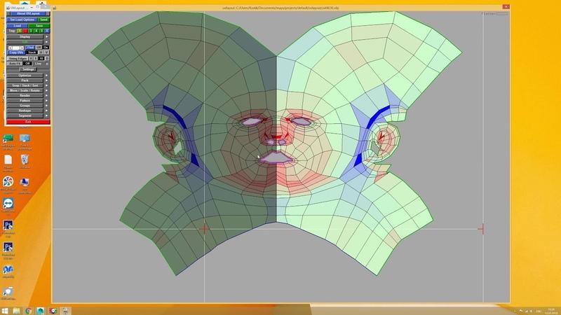 UVLayout развертка головы Функции Горячие клавиши