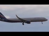 Посадка Airbus a321 Aeroflot в аэропорту Шереметьево