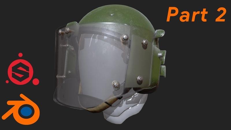 моделирование военного шлема ЗШ-1-2 в Blender (part 2)