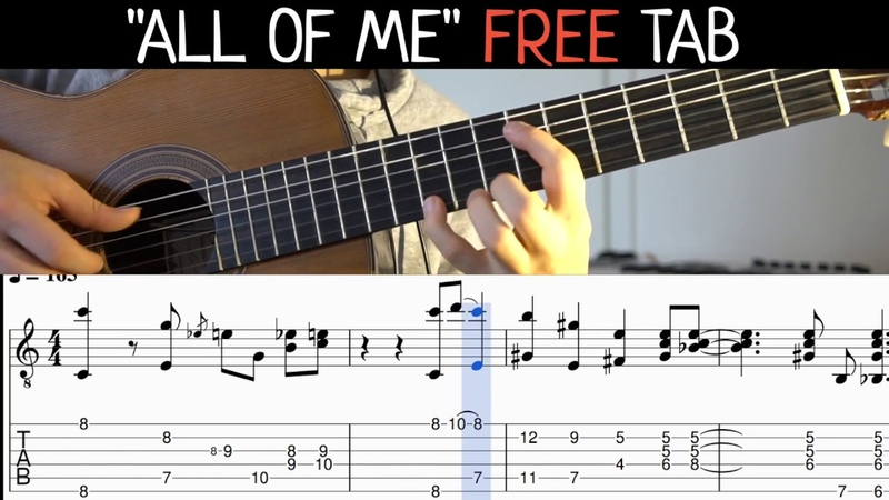 All of Me (Fingerstyle Guitar) With Tabs